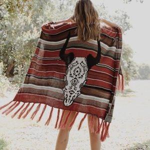 Sweaters - Bohemian Southwest Sweater Poncho Wrap L XL 1X 2X